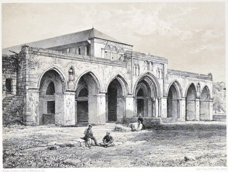 Jerusalem, mosque, Al-Aqsa, facade, Architecture, Holy, Land, Ermete Pierotti,