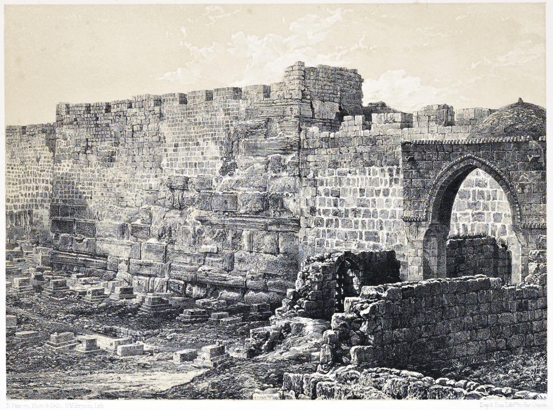 Jerusalem, Ancient, Jewish, Haram, Wall, Architecture, Holy, Land, Ermete Pierotti,
