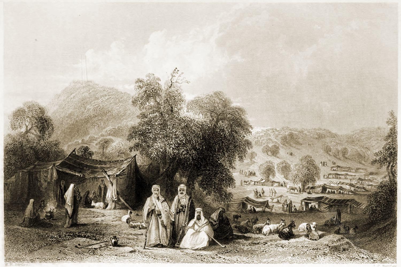 Arab, Camp, Mount, Tabor, Holy, Land, Levante, Israel, Palestine, Henry Stebbing,