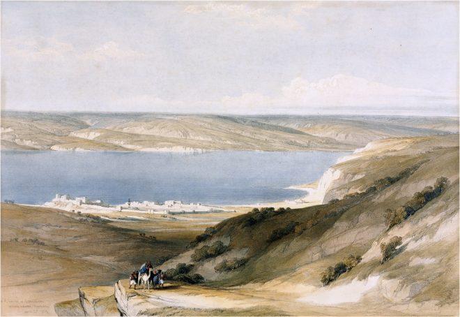 Sea, Tiberias, Bashan, Palestine, Galilee, Holy, Land, Levante, Israel, Palestine, David Roberts