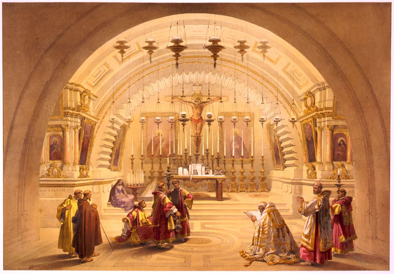 Calvary, Golgotha, Holy, Land, Levante, Jerusalem, David Roberts,