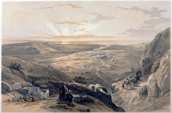 Cana Galilee, Holy, Land, Levante, Israel, Palestine, David Roberts