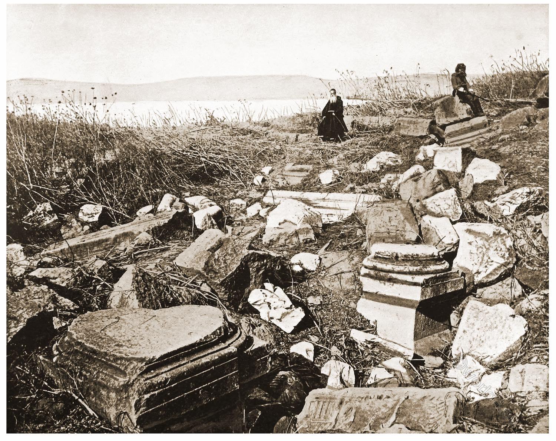 ancient, city, Capernaum, Palestine, Galilee, Holy, Land, Levante, Israel, Palestine, John Lawson Stoddard