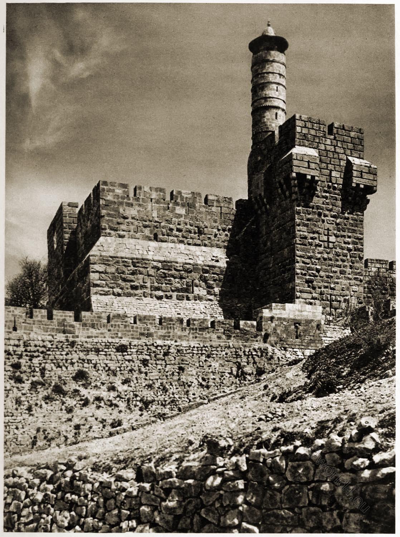 Jerusalem, Citadel, Architecture, Palestine, Holy, Land,