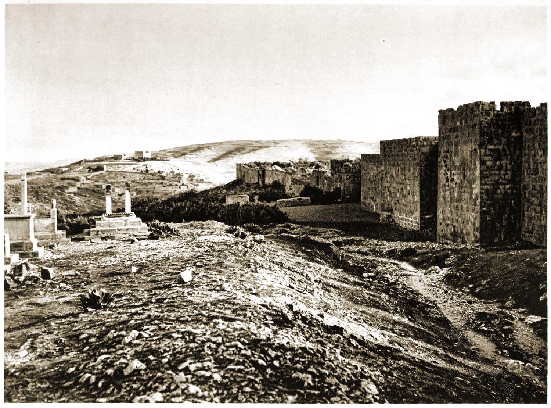 Jerusalem, City, Wall, Gate, St. Stephen, Landscape, Architecture, Palestine, Holy, Land,