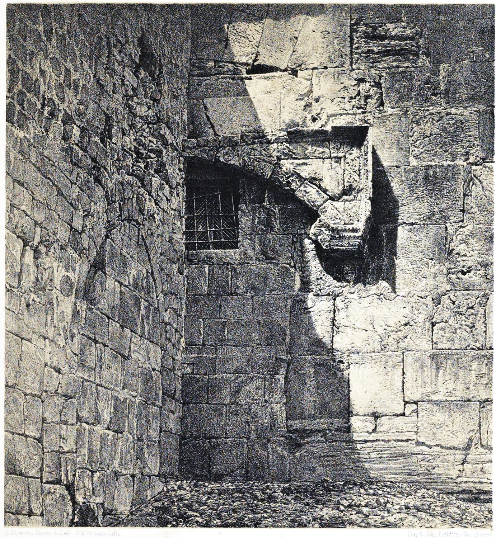 Jerusalem, Temple Mount, Gate, Bab el-Huldah, Haram es-Sherif, Holy, Land, Ermete Pierotti,