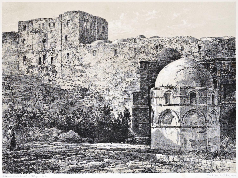 Barrack, Haram es-Sherif, Holy, Land, Levante, Jerusalem, Ermete Pierotti,