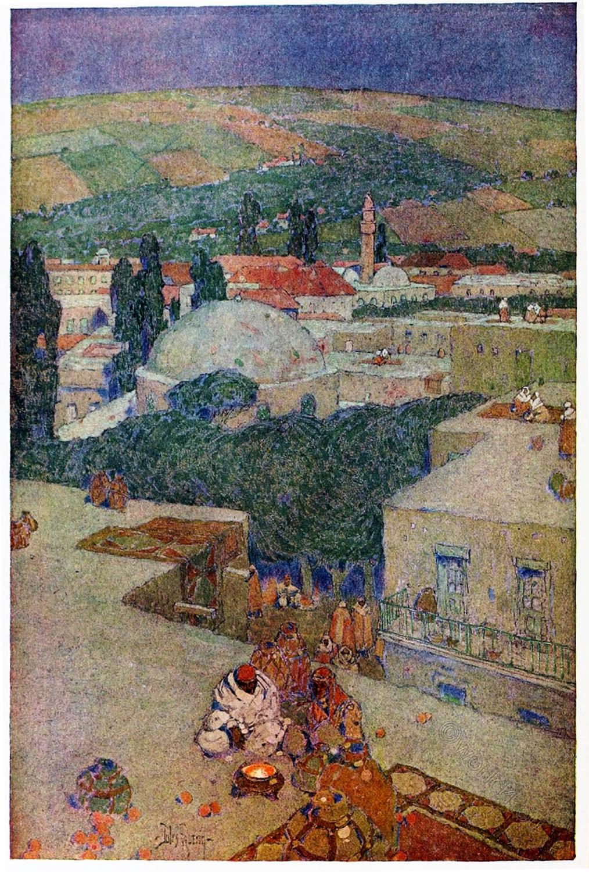 Jules Guerin, Nazareth, Holy, Land, Levante, Israel, Palestine,