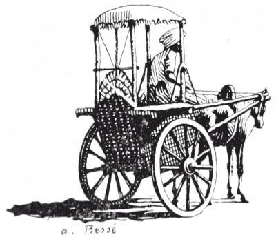 Illustration, India, Horse-drawn, carriage