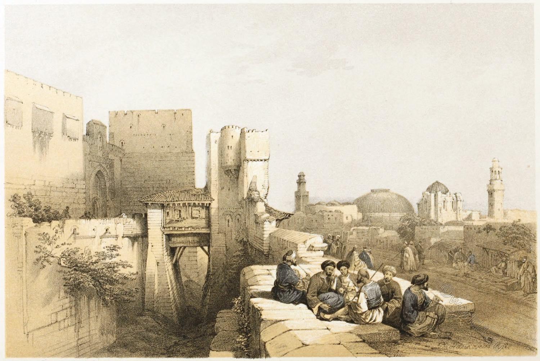 Jerusalem, Entrance, Citadel, Architecture, Holy, Land, David Roberts,