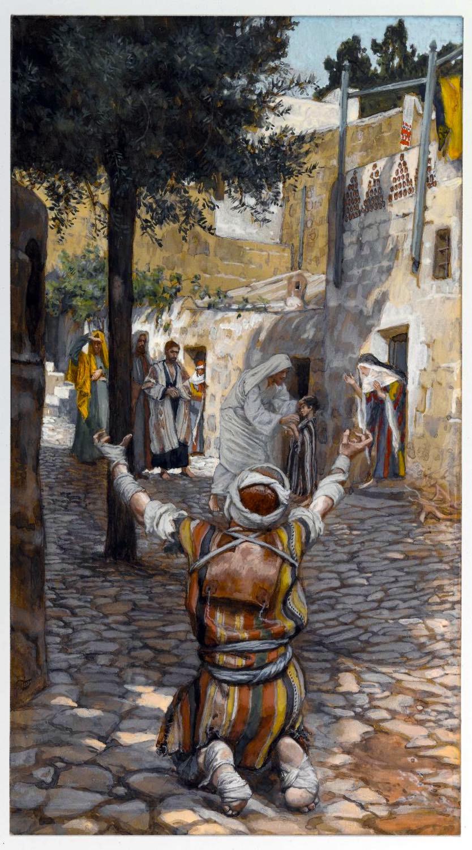 James Tissot, Healing, Lepers, Capernaum,