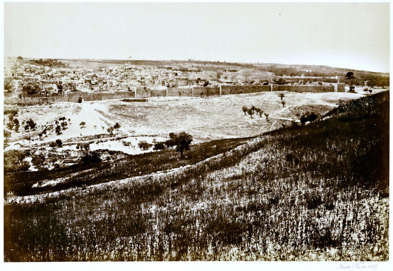 Mount, Olives, View, Jerusalem, Palestine, Israel, Francis Frith,