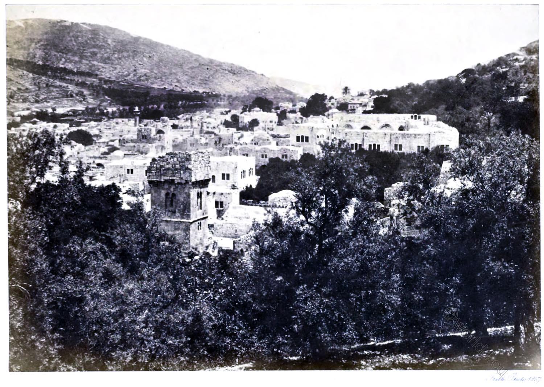Nablous, Shechem, Nablus, Sychar, Francis Frith, holy, land, levante, palestine,