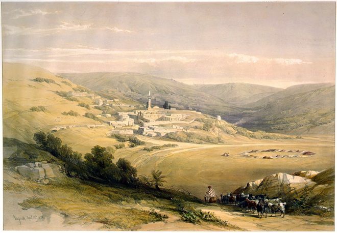 View, Nazareth, Holy, Land, Levante, Israel, Palestine, David Roberts,