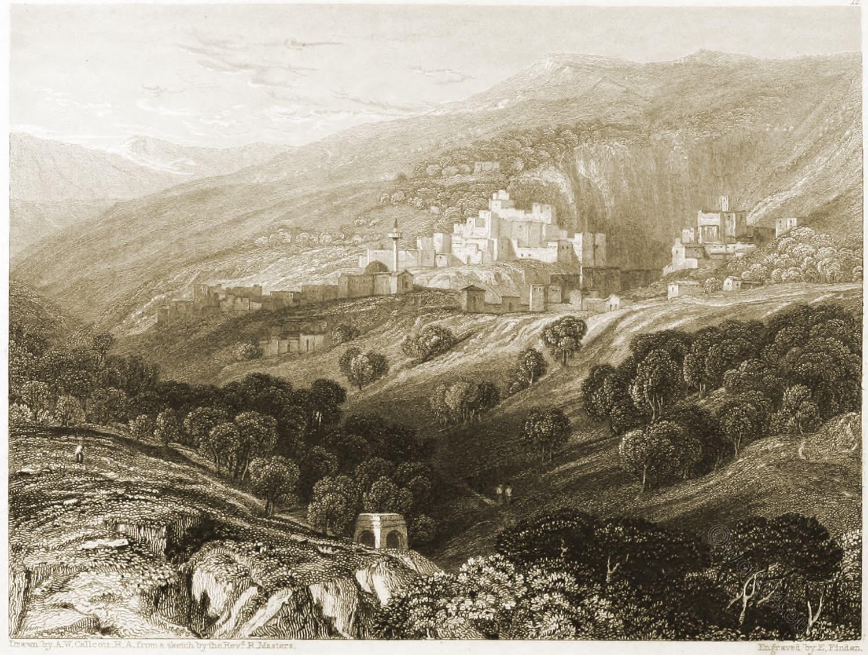 Nazareth, Mount, Precipitation, Holy, Land, Levante, Israel, Palestine,  Thomas Hartwell Horne