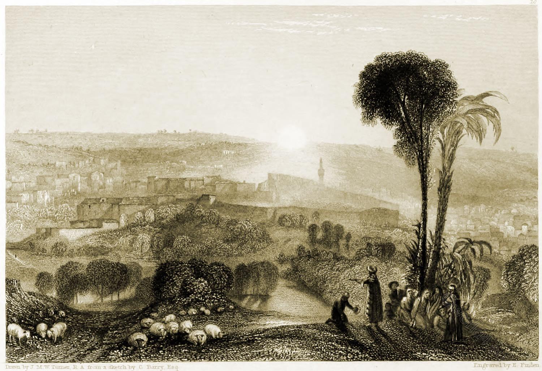 Nazareth, William Turner, Holy, Land, Levante, Israel, Palestine,