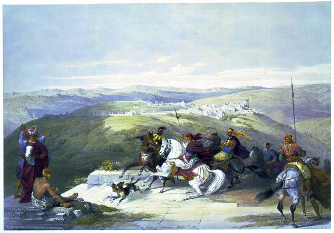 David Roberts, Sebaste, Samaria, holy, land, levante, palestine,