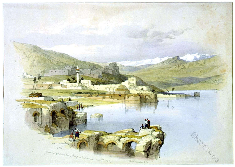Safed, Tzefat, Sea, Tiberias, Palestine, Galilee, Holy, Land, Levante, Israel, David Roberts