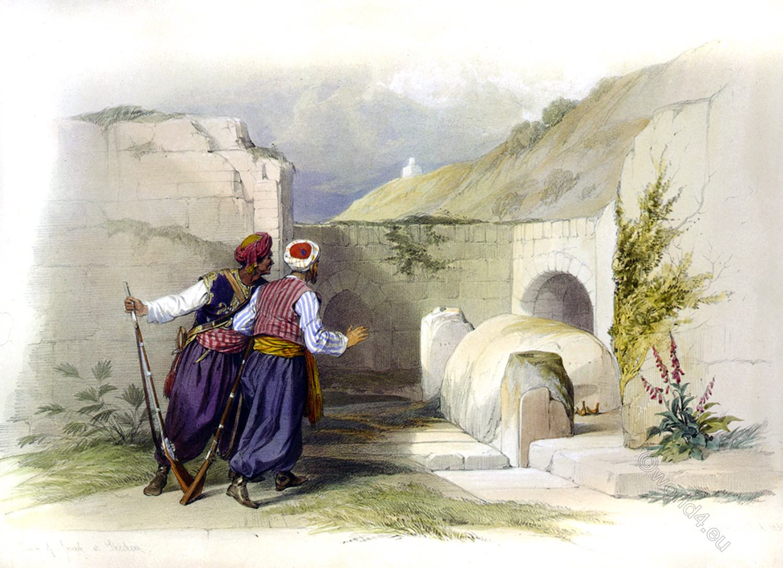 Tomb, Joseph, Shechem, Palestine, Galilee, Holy, Land, Levante, Israel, David Roberts