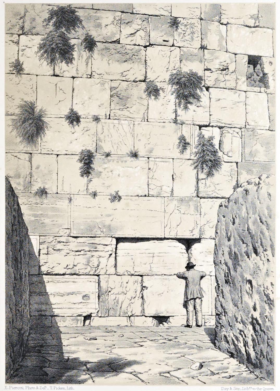 Jerusalem, Wailing-place, Jews, Outer Wall, Holy, Land, Ermete Pierotti, Temple Mount,