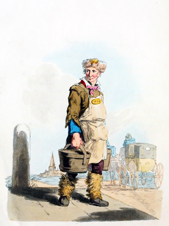 Waterman, Coach, England, regency, costume, dress, custom,