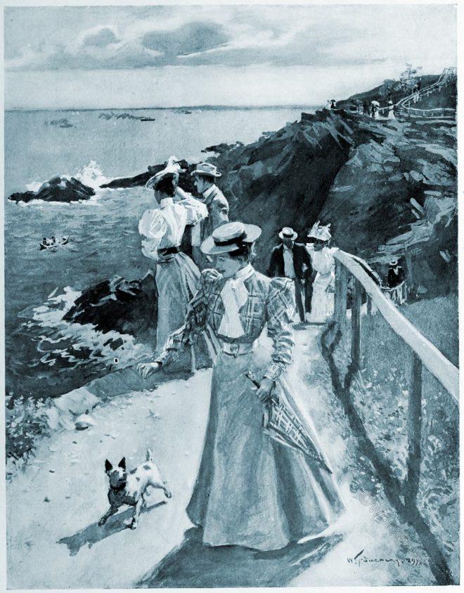 Cliffs, Nahant, Massachusetts, Smedley, american, painter, artist