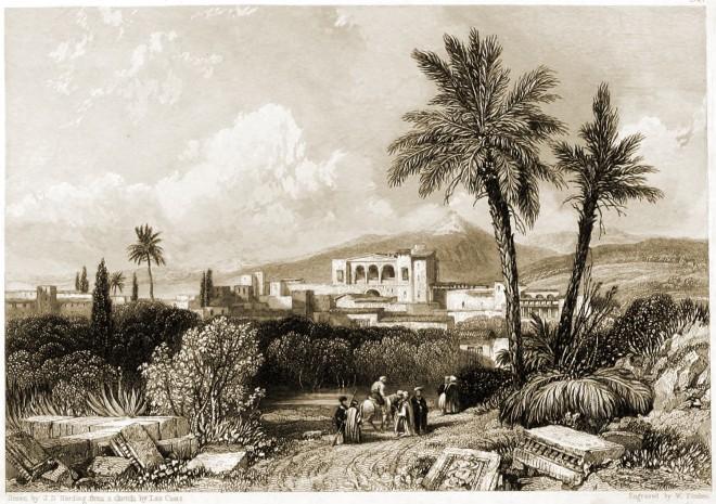 Larnaca, Kittim, Cyprus, Landscape, Illustrations, Bible, W. Finden, Harding,