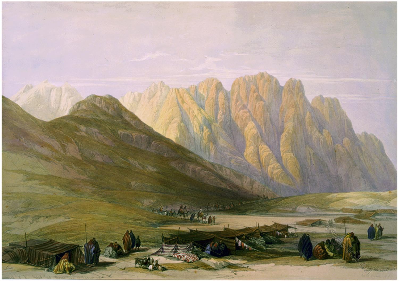 Aulad-Said, Encampment, Mount, Sinai, David Roberts,