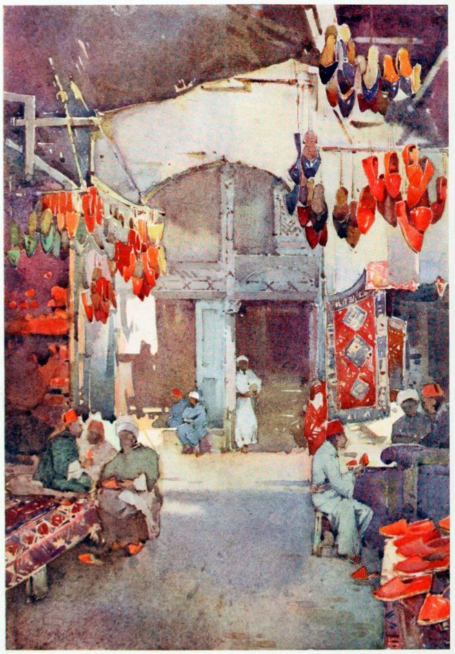 Egypt, Ella, du, Cane, painting, shoe bazaar, Cairo