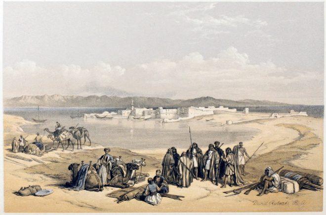 David, Roberts, View, Suez, Egypt, Holy, Land, Palestine,