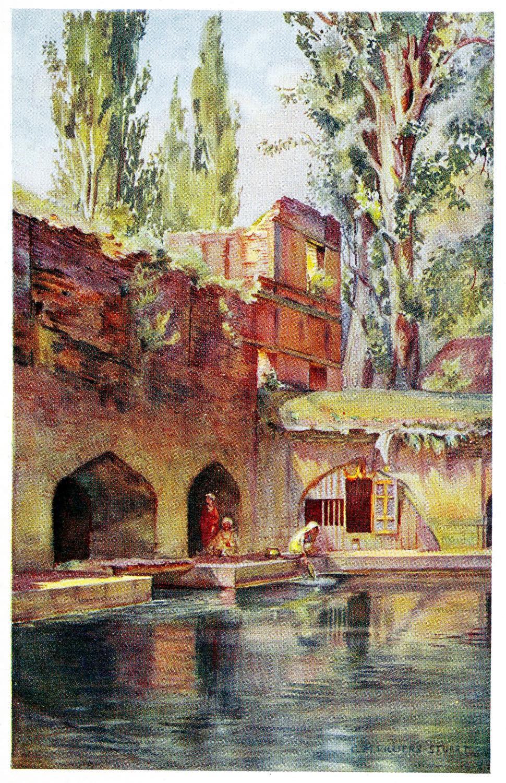 Villiers-Stuart, Verinag, Bagh, Spring, India, Moghul, Garden, Kashmir, octagonal, tank,India, Moghul, Garden,